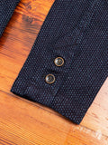 Sashiko Tailored Work Jacket in Indigo