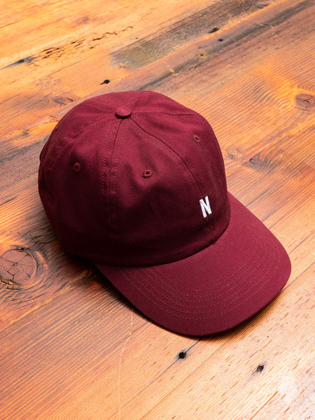 Twill Sports Cap in Mulberry Red