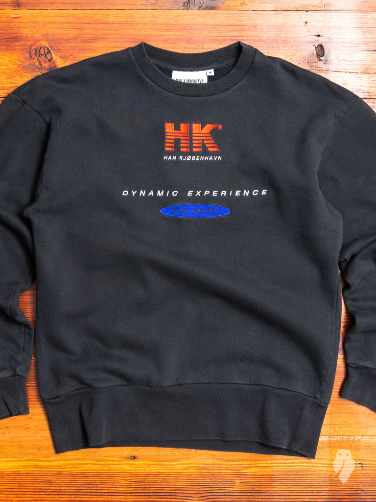 """Dynamic Experience"" Crewneck Sweater in Vintage Black"