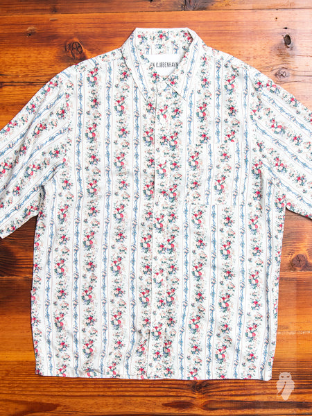 Floral Button-Up Shirt in Vintage White