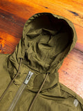 Hooded Track Jacket in Crisp Olive