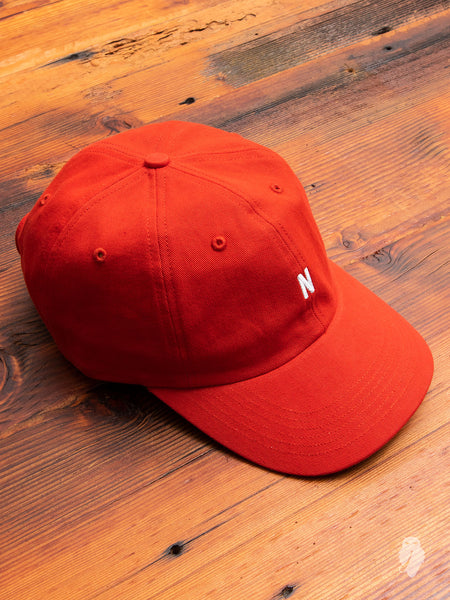 Twill Sports Cap in Askja Red