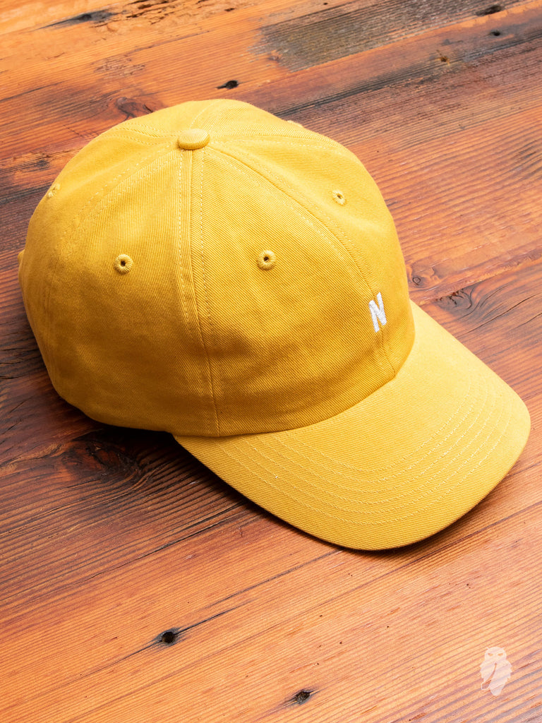 Twill Sports Cap in Sunwashed Yellow