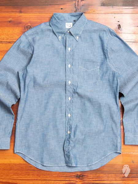 Chambray Button-Down Shirt in Indigo