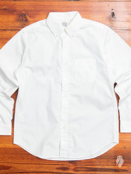 Chambray Button-Down Shirt in White