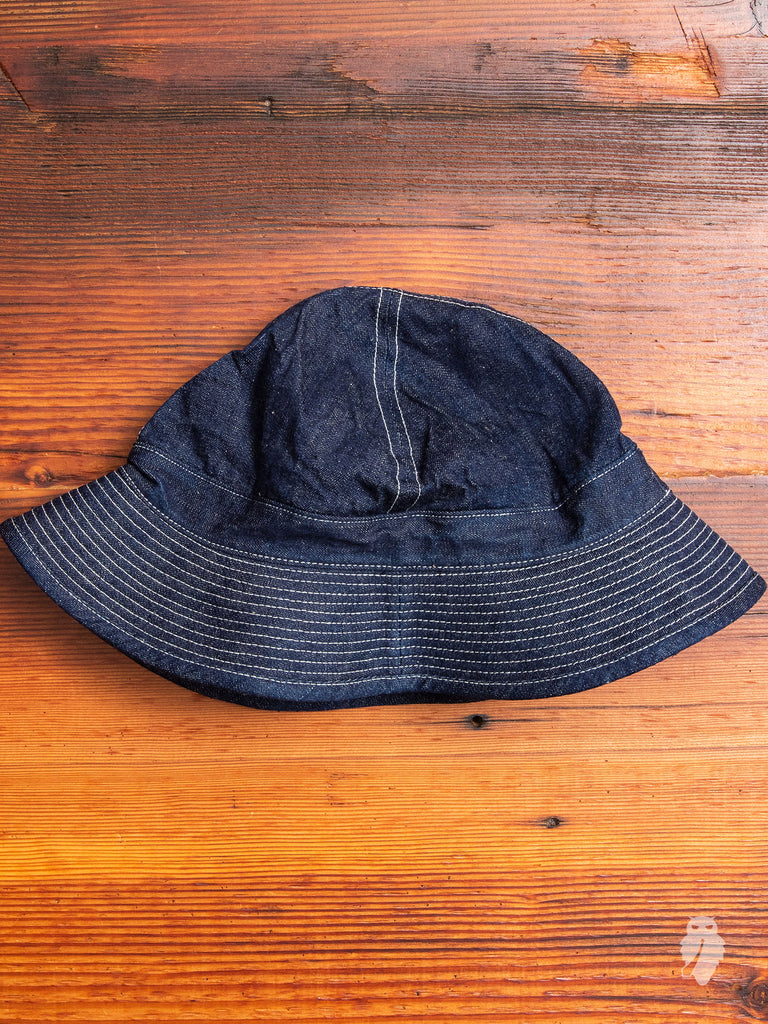 US Navy Hat in Rinsed Indigo