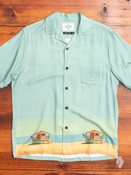 Baywatch Hawaiian Shirt in Seafoam