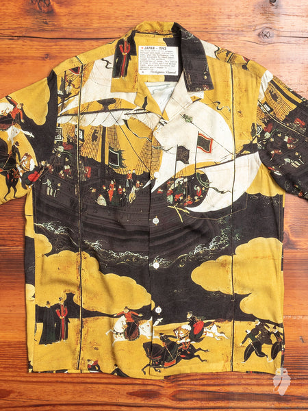 Japan 1543 Hawaiian Shirt in Gold