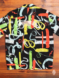 Play Board Hawaiian Shirt in Black