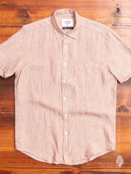 Rail Button-Up Shirt in Red