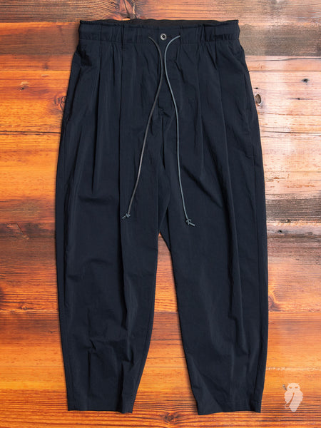 Nylon Sarouel Pants in Black