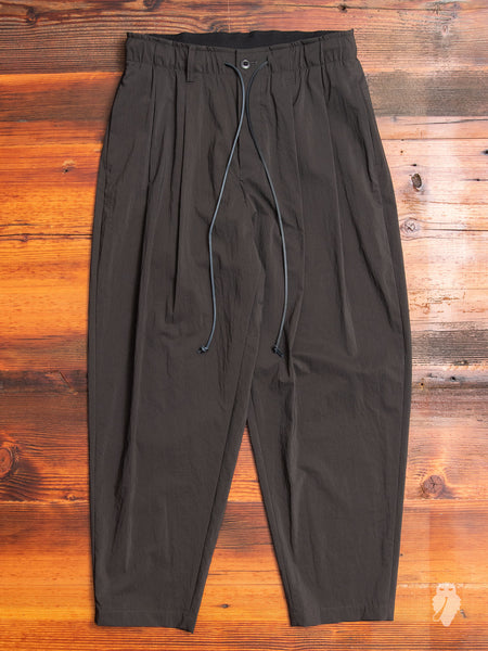 Nylon Sarouel Pants in Charcoal
