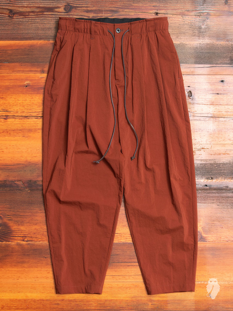 Nylon Sarouel Pants in Rust