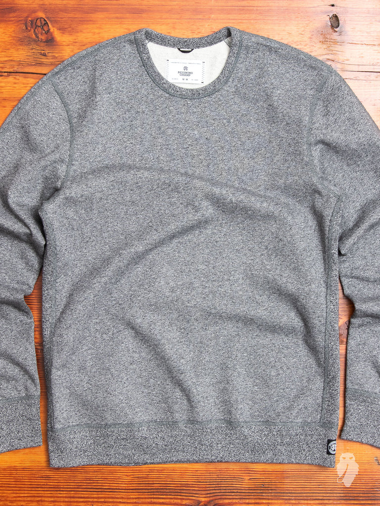 Crewneck Sweater in Marled Black