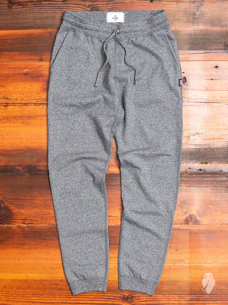 Slim Sweatpant in Marled Black