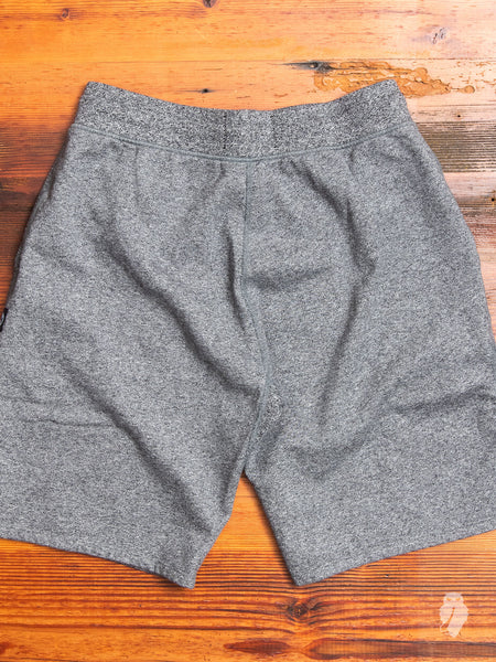 Sweatshort in Marled Black