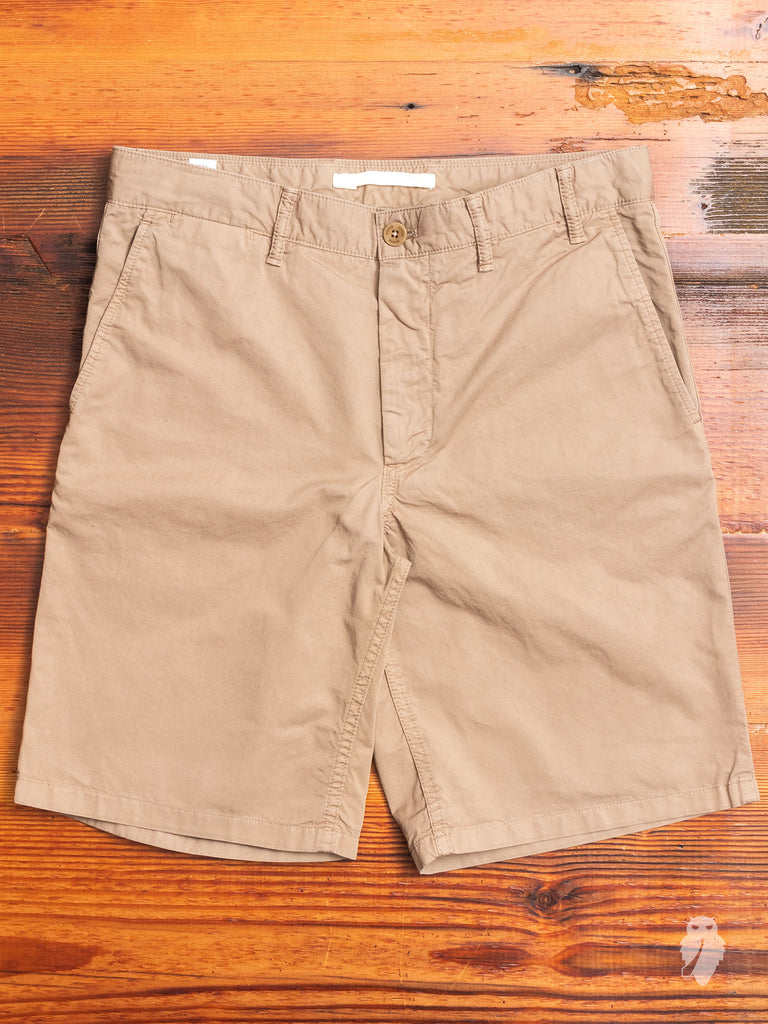 Aros Light Twill Shorts in Utility Khaki