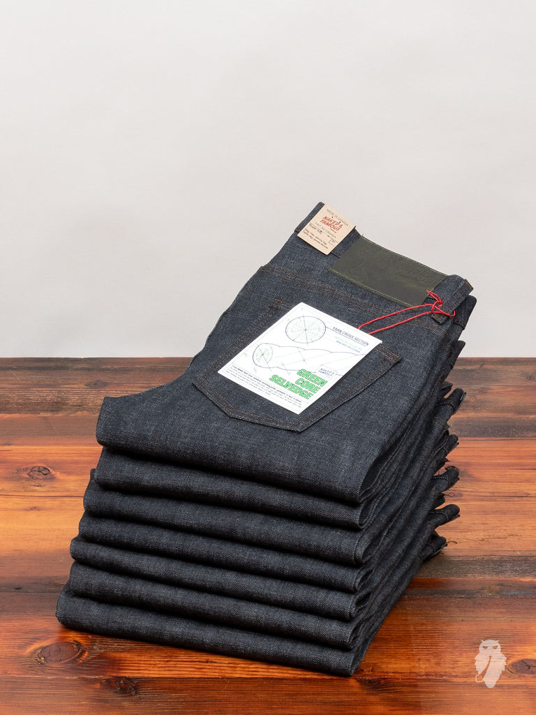 """Green Core"" 12.5oz Selvedge Denim - Super Guy Fit"
