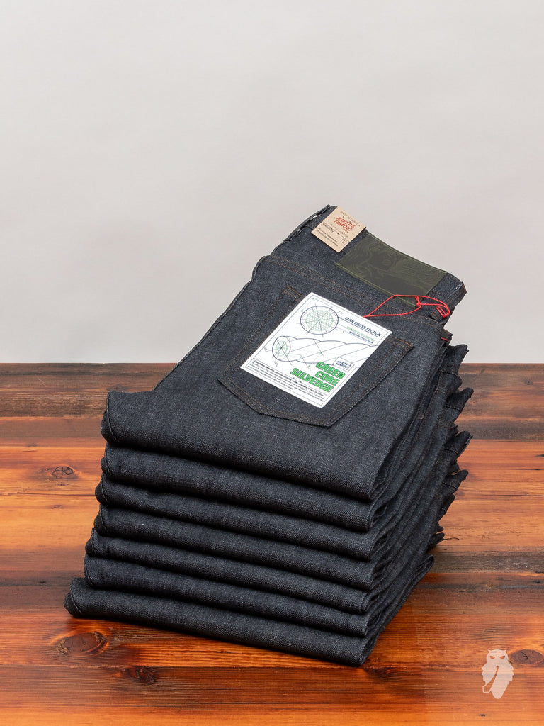 """Green Core"" 12.5oz Selvedge Denim - Weird Guy Fit"