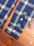 Crosscut Flannel in Navy Brushed Check