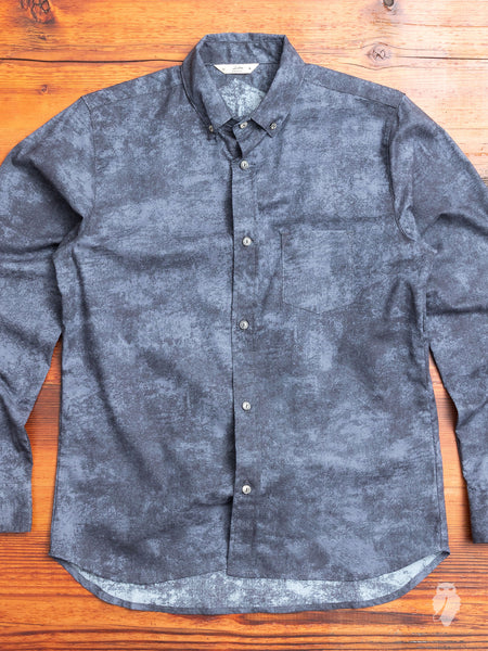 Crosscut Button-Down Shirt in Charcoal Haze