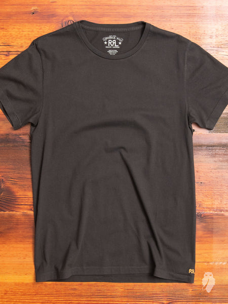 Vintage Knit T-Shirt in Faded Black
