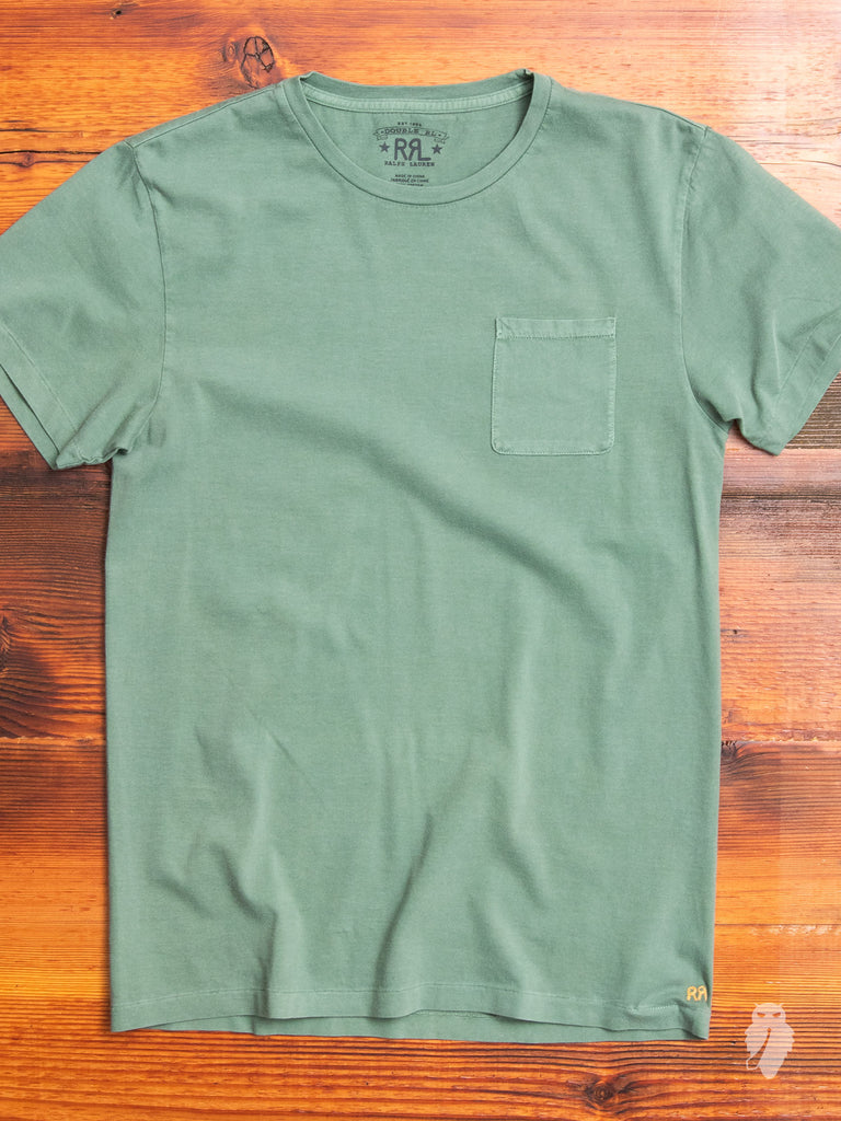 Vintage Knit Pocket T-Shirt in Heartland Green