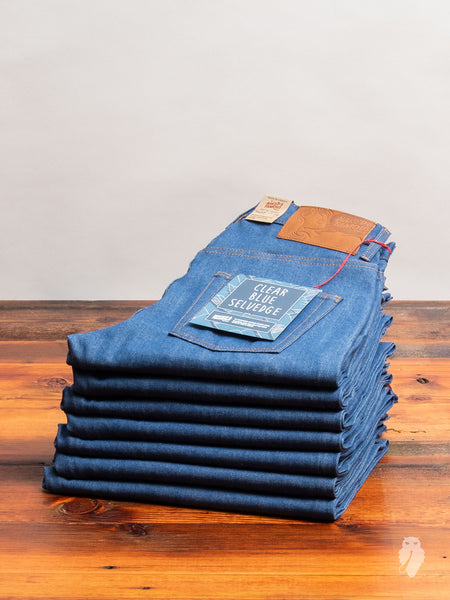 """Clear Blue Selvedge"" 9oz Selvedge Denim - Easy Guy Fit"