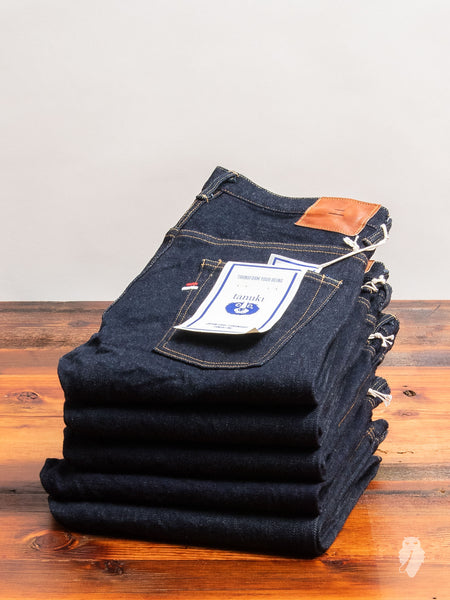 "NST ""SEN"" 16.5oz Natural Indigo Stretch Selvedge Denim - Tapered Fit"