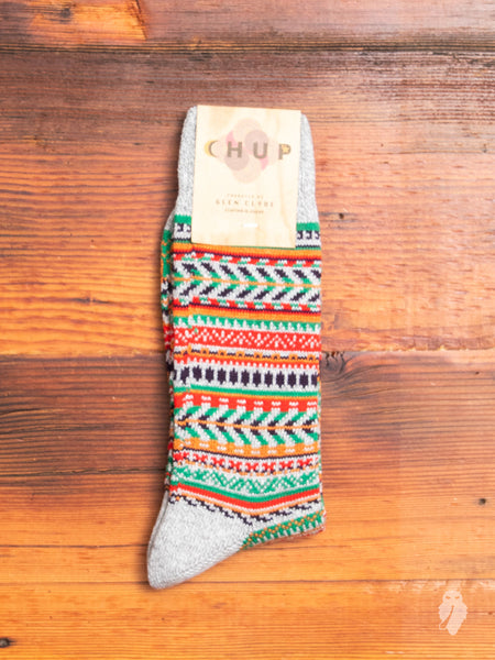 War Bonnet Sock in Fog Grey