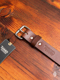 """Standard"" 11oz Leather Belt in Cognac"