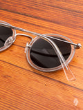 """Drum"" Sunglasses in Clear Titanium"