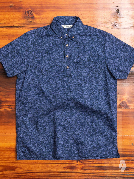 Floral Popover Shirt in Blue