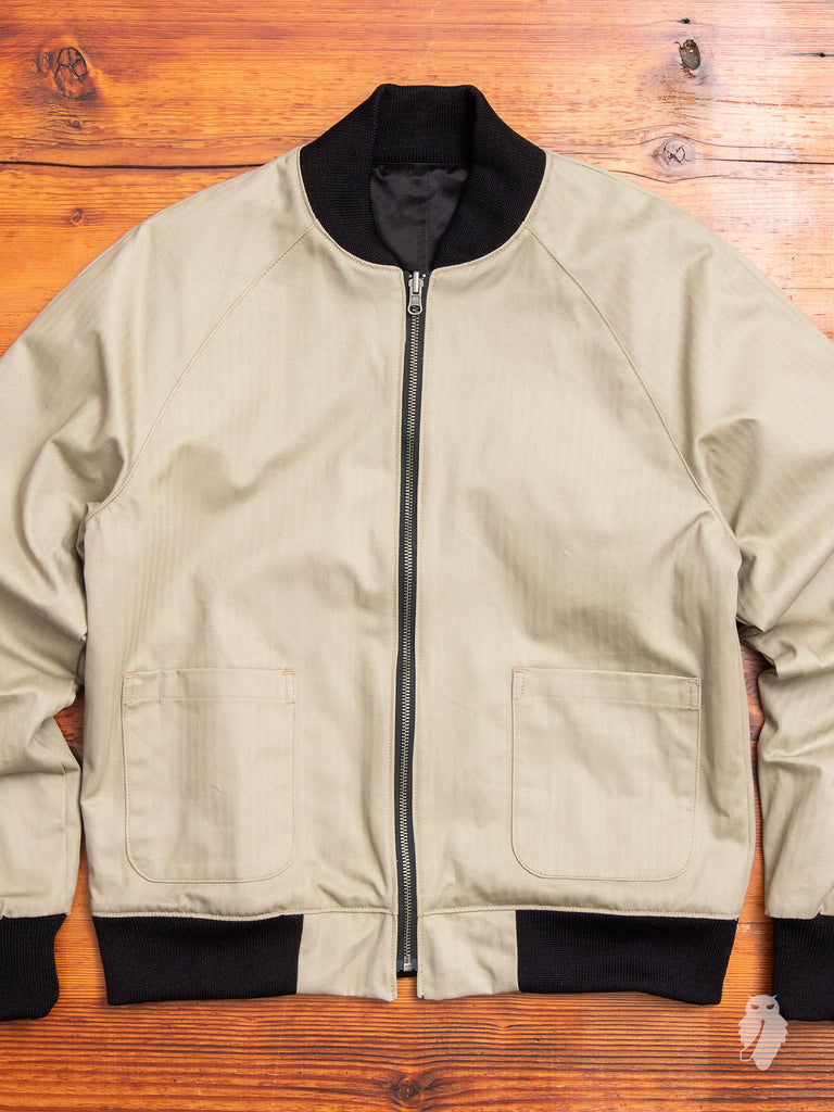 Reversible Flight Jacket in Black/Tan