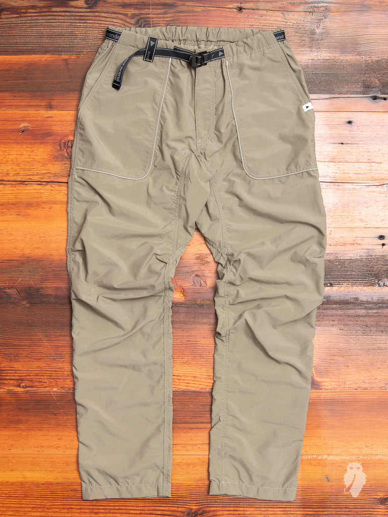 Nylon Climbing Pants in Khaki