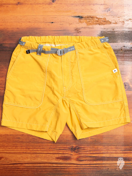Nylon Climbing Shorts in Yellow