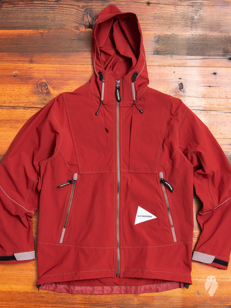 Nylon Shell Jacket in Red