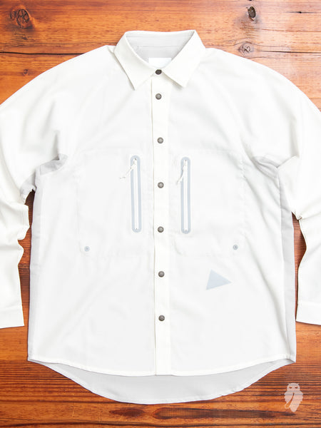 Tech Mesh Shirt in Off White