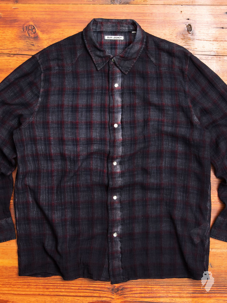 Fine Frontier Shirt in Red/Blue