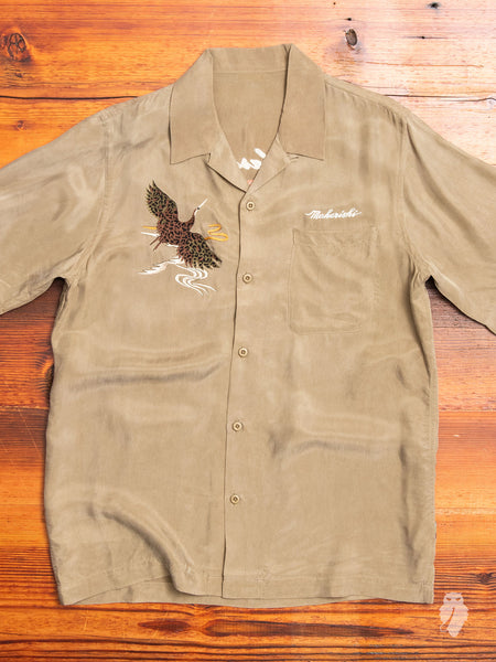 Crane Summer Shirt in Maha Olive
