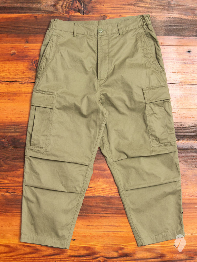 Cropped Cargo Pants in Maha Olive