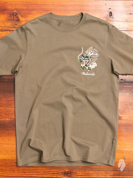 """Ghost"" T-Shirt in Maha Olive"