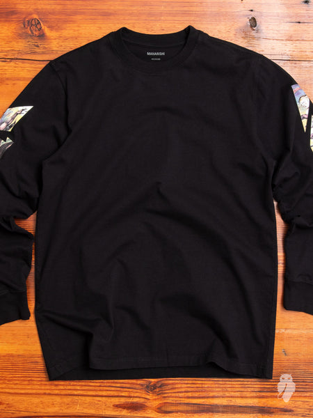 """Heaven & Hell"" Long Sleeve T-Shirt in Black"