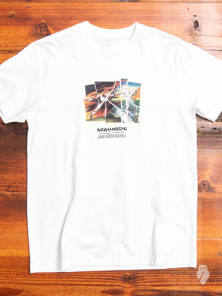 """Heaven & Hell"" T-Shirt in White"