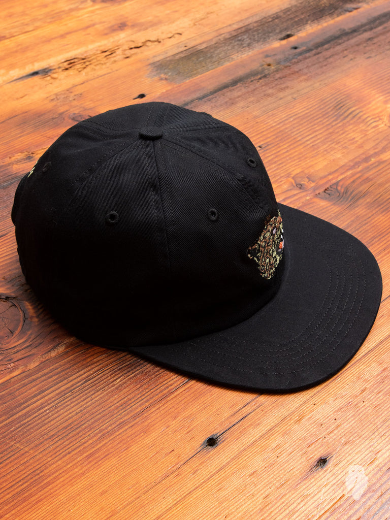 Leopard 6-Panel Hat in Black
