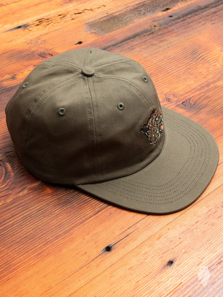 Leopard 6-Panel Hat in Military Olive