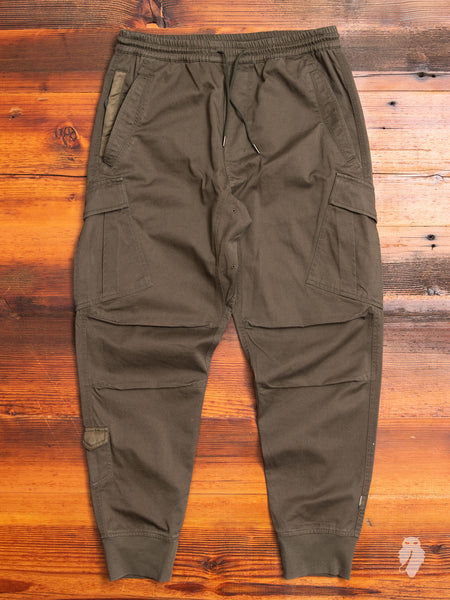 MA Cargo Trackpants in Olive