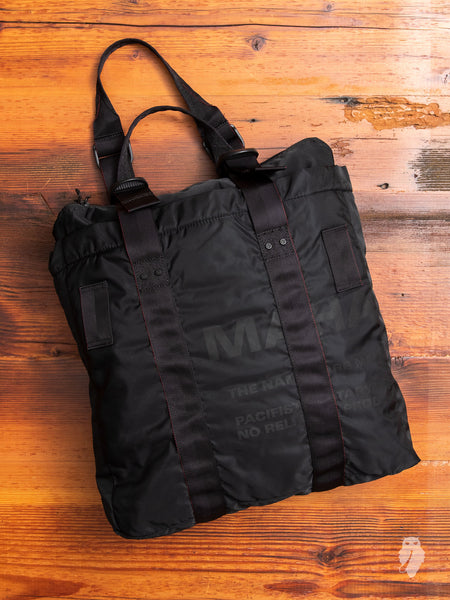 Miltype Tote Bag in Black