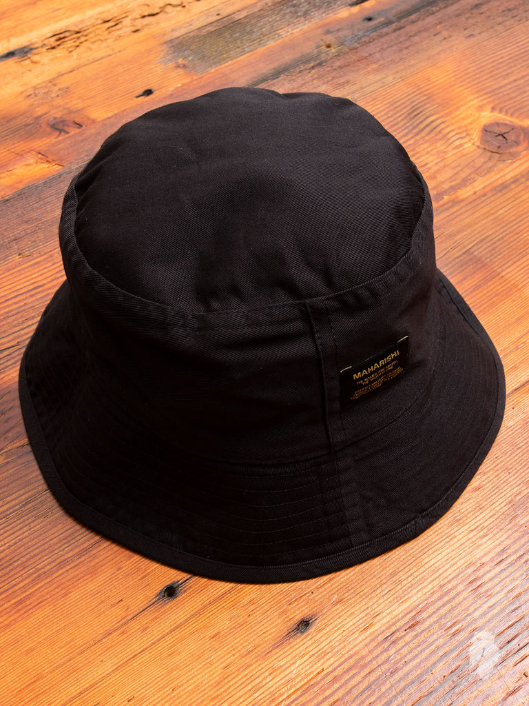 Reversible Camouflage Bucket Hat in Black