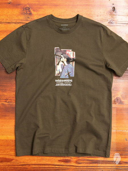 """Yoshitoshi"" T-Shirt in Military Olive"